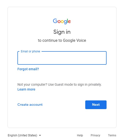 Enter Your Gmail Email Address