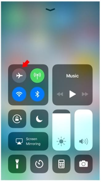 Turning Off Airplane Mode on iOS